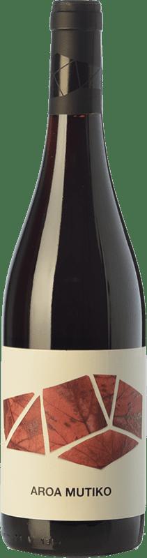 9,95 € 免费送货 | 红酒 Aroa Mutiko Joven D.O. Navarra 纳瓦拉 西班牙 Tempranillo, Merlot 瓶子 75 cl