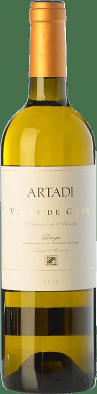 24,95 € 免费送货 | 白酒 Artadi Viñas de Gain Crianza D.O.Ca. Rioja 拉里奥哈 西班牙 Viura 瓶子 75 cl