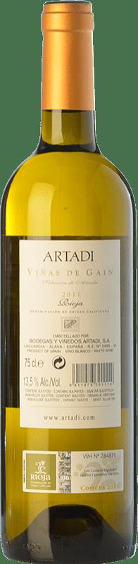 21,95 € Free Shipping | White wine Artadi Viñas de Gain Crianza D.O.Ca. Rioja The Rioja Spain Viura Bottle 75 cl