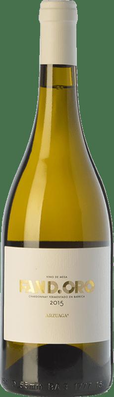 14,95 € Envío gratis | Vino blanco Arzuaga Fan D.Oro Crianza D.O. Ribera del Duero Castilla y León España Chardonnay Botella 75 cl