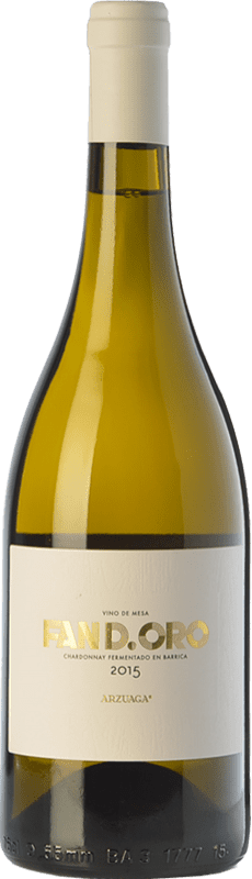 14,95 € Free Shipping | White wine Arzuaga Fan D.Oro Crianza D.O. Ribera del Duero Castilla y León Spain Chardonnay Bottle 75 cl