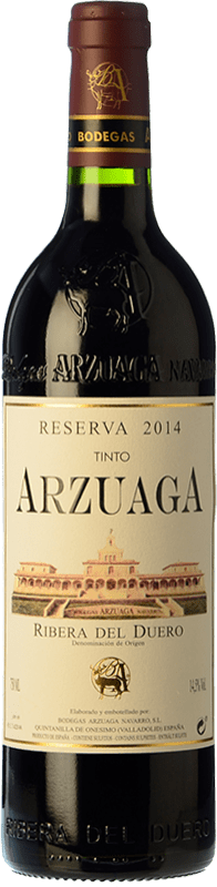 34,95 € Envoi gratuit | Vin rouge Arzuaga Reserva D.O. Ribera del Duero Castille et Leon Espagne Tempranillo, Cabernet Sauvignon Bouteille 75 cl