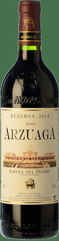34,95 € Envío gratis | Vino tinto Arzuaga Reserva D.O. Ribera del Duero Castilla y León España Tempranillo, Cabernet Sauvignon Botella 75 cl
