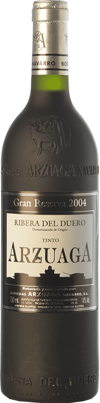 88,95 € | Red wine Arzuaga Gran Reserva 2004 D.O. Ribera del Duero Castilla y León Spain Tempranillo, Merlot, Cabernet Sauvignon Bottle 75 cl