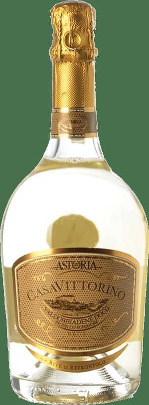 24,95 € Envío gratis | Espumoso blanco Astoria Casa di Vittorino Brut D.O.C.G. Prosecco di Conegliano-Valdobbiadene Treviso Italia Glera Botella 75 cl