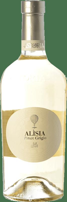 19,95 € Envío gratis | Vino blanco Astoria Alisia I.G.T. Friuli-Venezia Giulia Friuli-Venezia Giulia Italia Pinot Gris Botella 75 cl