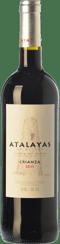 14,95 € | Red wine Atalayas de Golbán Crianza D.O. Ribera del Duero Castilla y León Spain Tempranillo Bottle 75 cl