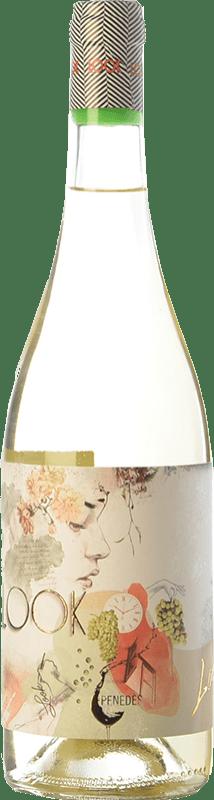 8,95 € Envío gratis | Vino blanco Augustus Look D.O. Penedès Cataluña España Moscatel de Alejandría, Xarel·lo, Sauvignon Blanca Botella 75 cl