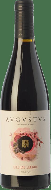 14,95 € Free Shipping | Red wine Augustus Microvinificacions Ull de Llebre Joven D.O. Penedès Catalonia Spain Tempranillo Bottle 75 cl