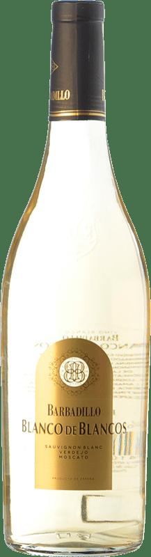 9,95 € Envoi gratuit | Vin blanc Barbadillo Blanco de Blancos Espagne Muscat, Verdejo, Sauvignon Blanc Bouteille 75 cl