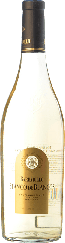 9,95 € Free Shipping | White wine Barbadillo Blanco de Blancos Spain Muscatel, Verdejo, Sauvignon White Bottle 75 cl