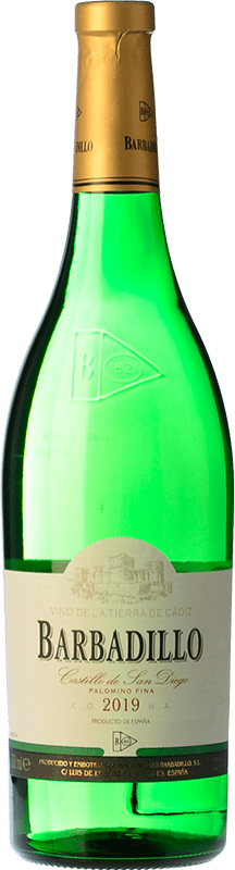 4,95 € Envío gratis   Vino blanco Barbadillo Castillo de San Diego Joven I.G.P. Vino de la Tierra de Cádiz Andalucía España Palomino Fino Botella 75 cl
