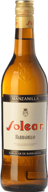 6,95 € Free Shipping | Fortified wine Barbadillo Solear D.O. Manzanilla-Sanlúcar de Barrameda Andalusia Spain Palomino Fino Bottle 75 cl