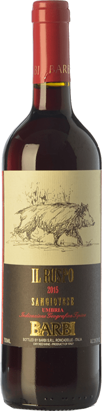 9,95 € Free Shipping | Red wine Barbi Il Ruspo I.G.T. Umbria Umbria Italy Sangiovese Bottle 75 cl