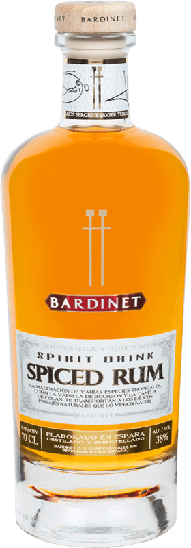 24,95 € 免费送货 | 朗姆酒 Bardinet Spiced Rum Hermanos Torres 西班牙 瓶子 70 cl
