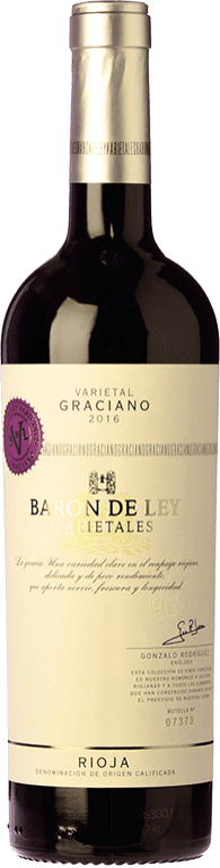 14,95 € Envío gratis   Vino tinto Barón de Ley Varietales Joven D.O.Ca. Rioja La Rioja España Graciano Botella 75 cl