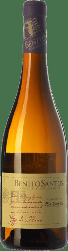 18,95 € Envío gratis | Vino blanco Benito Santos Pago de Xoan D.O. Rías Baixas Galicia España Albariño Botella 75 cl
