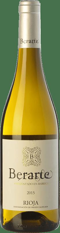 9,95 € 免费送货 | 白酒 Berarte Fermentado en Barrica Crianza D.O.Ca. Rioja 拉里奥哈 西班牙 Viura 瓶子 75 cl