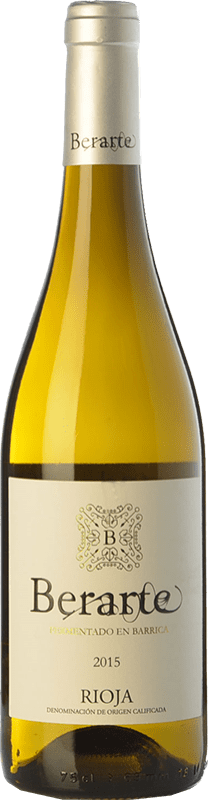 9,95 € Envío gratis | Vino blanco Berarte Fermentado en Barrica Crianza D.O.Ca. Rioja La Rioja España Viura Botella 75 cl