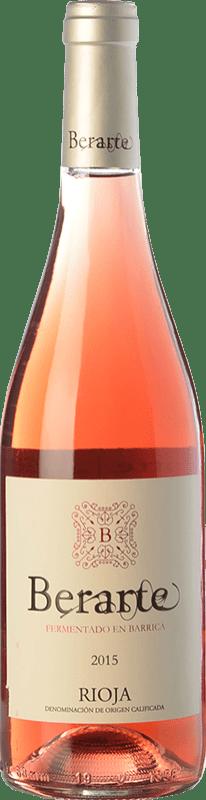 12,95 € 免费送货 | 玫瑰酒 Berarte Fermentado en Barrica D.O.Ca. Rioja 拉里奥哈 西班牙 Tempranillo 瓶子 75 cl