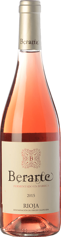 12,95 € Envío gratis | Vino rosado Berarte Fermentado en Barrica D.O.Ca. Rioja La Rioja España Tempranillo Botella 75 cl