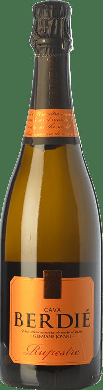 9,95 € Envoi gratuit | Blanc moussant Berdié Rupestre Brut Reserva D.O. Cava Catalogne Espagne Macabeo, Xarel·lo, Parellada Bouteille 75 cl