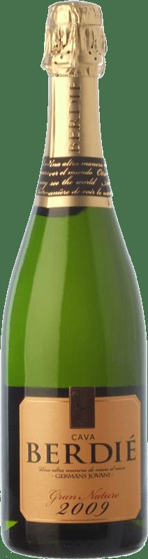 15,95 € Envío gratis | Espumoso blanco Berdié Gran Brut Nature Gran Reserva D.O. Cava Cataluña España Macabeo, Xarel·lo, Parellada Botella 75 cl