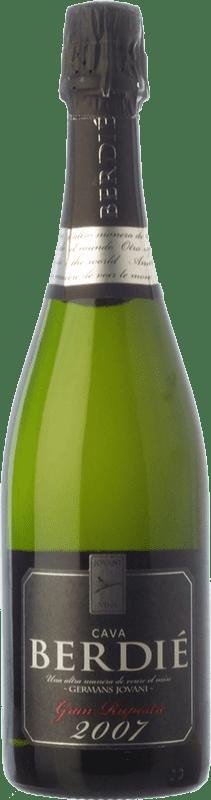 18,95 € Envío gratis | Espumoso blanco Berdié Gran Rupestre Gran Reserva D.O. Cava Cataluña España Macabeo, Xarel·lo, Parellada Botella 75 cl