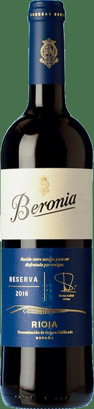 15,95 € Envoi gratuit | Vin rouge Beronia Reserva D.O.Ca. Rioja La Rioja Espagne Tempranillo, Graciano, Mazuelo Bouteille 75 cl