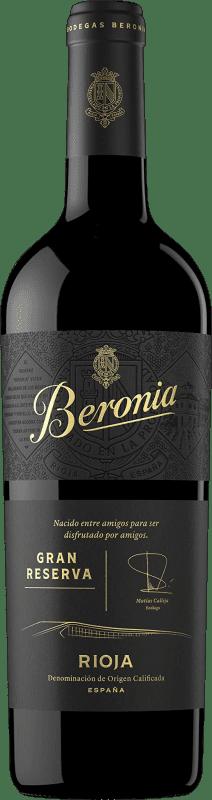 27,95 € Envío gratis | Vino tinto Beronia Gran Reserva D.O.Ca. Rioja La Rioja España Tempranillo, Graciano, Mazuelo Botella 75 cl