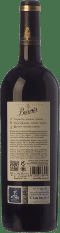 26,95 € Free Shipping   Red wine Beronia Gran Reserva D.O.Ca. Rioja The Rioja Spain Tempranillo, Graciano, Mazuelo Bottle 75 cl