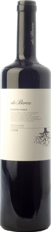8,95 € Free Shipping | Red wine Beroz Nuestro Roble D.O. Somontano Aragon Spain Tempranillo, Merlot, Cabernet Sauvignon, Moristel Bottle 75 cl
