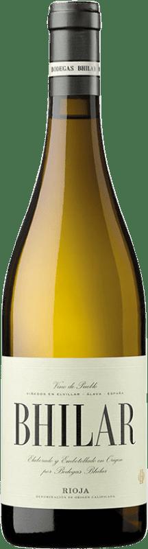 14,95 € Free Shipping | White wine Bhilar Plots Crianza D.O.Ca. Rioja The Rioja Spain Viura, Grenache White Bottle 75 cl