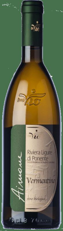13,95 € Free Shipping | White wine BioVio Aimone D.O.C. Riviera Ligure di Ponente Liguria Italy Vermentino Bottle 75 cl