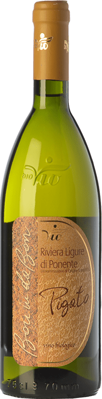 19,95 € Free Shipping | White wine BioVio Bon in da Bon D.O.C. Riviera Ligure di Ponente Liguria Italy Pigato Bottle 75 cl
