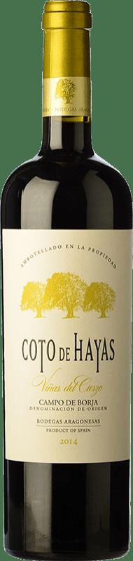 9,95 € Envío gratis | Vino tinto Bodegas Aragonesas Coto de Hayas Reserva D.O. Campo de Borja Aragón España Tempranillo, Garnacha Botella 75 cl