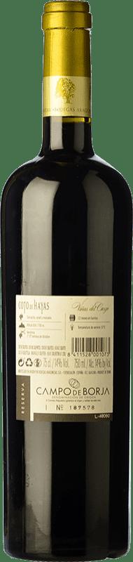 10,95 € Free Shipping | Red wine Bodegas Aragonesas Coto de Hayas Reserva D.O. Campo de Borja Aragon Spain Tempranillo, Grenache Bottle 75 cl