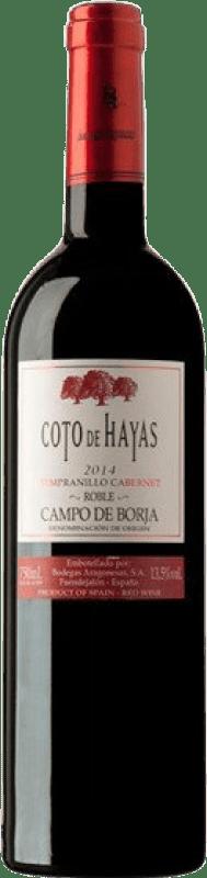 4,95 € | Red wine Bodegas Aragonesas Coto de Hayas Crianza D.O. Campo de Borja Aragon Spain Tempranillo, Cabernet Sauvignon Bottle 75 cl