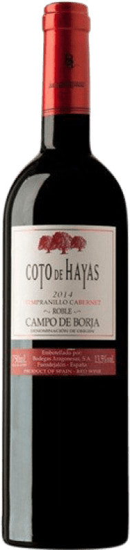 4,95 € Envío gratis | Vino tinto Bodegas Aragonesas Coto de Hayas Crianza D.O. Campo de Borja Aragón España Tempranillo, Cabernet Sauvignon Botella 75 cl