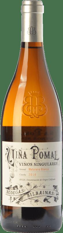 28,95 € 免费送货 | 白酒 Bodegas Bilbaínas Viña Pomal Crianza D.O.Ca. Rioja 拉里奥哈 西班牙 Maturana White 瓶子 75 cl