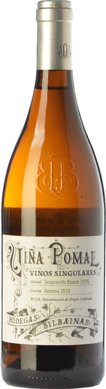 32,95 € Free Shipping | White wine Bodegas Bilbaínas Viña Pomal Crianza D.O.Ca. Rioja The Rioja Spain Tempranillo White Bottle 75 cl