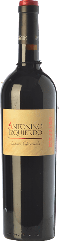 39,95 € Free Shipping | Red wine Bodegas Izquierdo Antonino Izquierdo Vendimia Seleccionada Joven D.O. Ribera del Duero Castilla y León Spain Tempranillo, Cabernet Sauvignon Bottle 75 cl