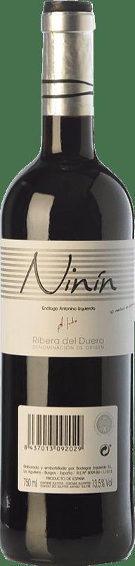 8,95 € Envoi gratuit | Vin rouge Bodegas Izquierdo Ninín Joven D.O. Ribera del Duero Castille et Leon Espagne Tempranillo Bouteille 75 cl