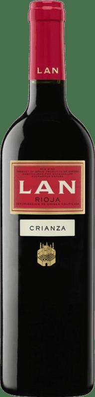 8,95 € Envío gratis | Vino tinto Lan Crianza D.O.Ca. Rioja La Rioja España Tempranillo Botella 75 cl
