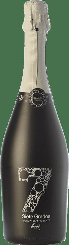 8,95 € Envío gratis | Espumoso blanco Luzón Frizzante Siete Grados España Moscatel de Alejandría Botella 75 cl