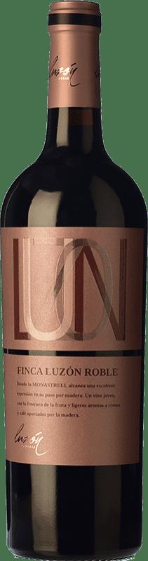 8,95 € Envío gratis | Vino tinto Luzón Roble D.O. Jumilla Castilla la Mancha España Monastrell Botella 75 cl