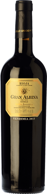 18,95 € | Red wine Bodegas Riojanas Gran Albina Vendimia Seleccionada Reserva D.O.Ca. Rioja The Rioja Spain Tempranillo, Graciano, Mazuelo Bottle 75 cl