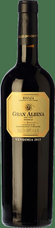 21,95 € Envoi gratuit | Vin rouge Bodegas Riojanas Gran Albina Vendimia Seleccionada Reserva D.O.Ca. Rioja La Rioja Espagne Tempranillo, Graciano, Mazuelo Bouteille 75 cl