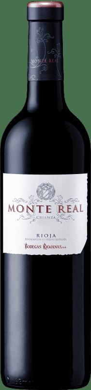 11,95 € Envoi gratuit | Vin rouge Bodegas Riojanas Monte Real Crianza D.O.Ca. Rioja La Rioja Espagne Tempranillo Bouteille 75 cl