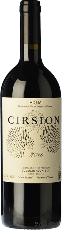 217,95 € Envío gratis | Vino tinto Bodegas Roda Cirsion Crianza D.O.Ca. Rioja La Rioja España Tempranillo Botella 75 cl
